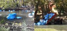 Güney Köyündeki Dereye Dökülen Çöp Tepki Çekti
