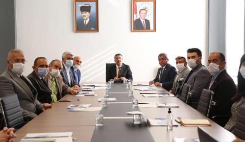 Vali Çelik, Zafer OSB Müteşebbis Heyeti ile Yönetim Kurulu Toplantılarına Başkanlık Etti