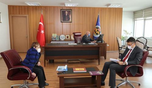 Vali Ali Çelik'ten, Vakıflar Bölge Müdürlüğüne ziyaret