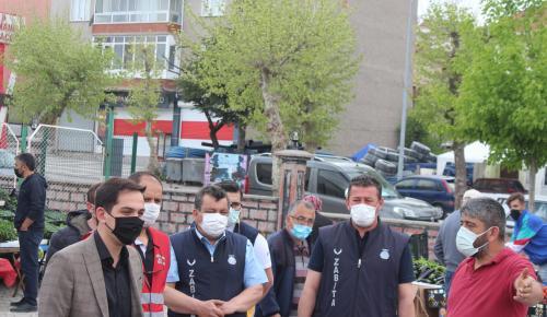 DOMANİÇ KAYMAKAMI PAZAR ESNAFINI ZİYARET ETTİ